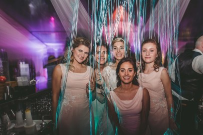 Bridesmaids at the wedding